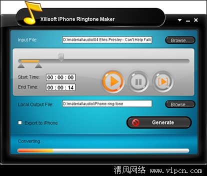 Xilisoft iPhone Ringtone Maker (铃音制作工具) 官方中文破解版 v3.1.5.20140312 安装版