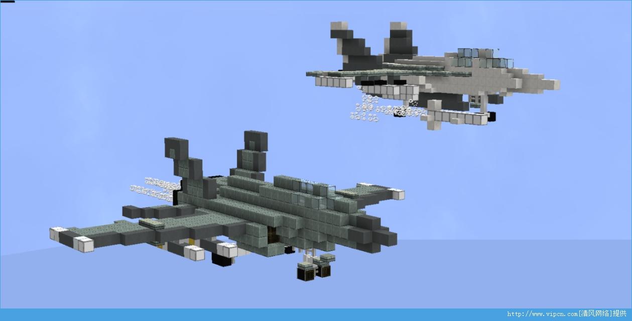 我的世界(Minecraft)F/A-18黄蜂式战斗攻击机和UH-60黑鹰直升机心得分享[多图]