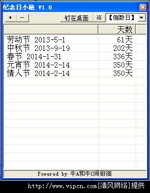 纪念日小秘官方(倒数日软件) V1.0.2 绿色版