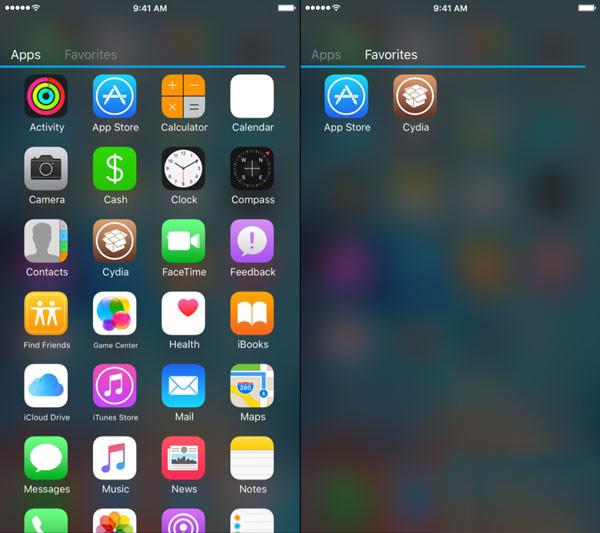 iOS9越狱插件AppDrawer 让你的iphone体验安卓应用抽屉[多图]