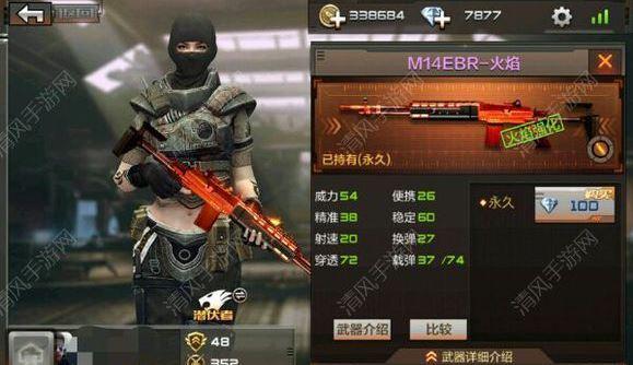 穿越火线枪战王者M14EBR火焰实战测试:M14EBR火焰使用技巧[图]