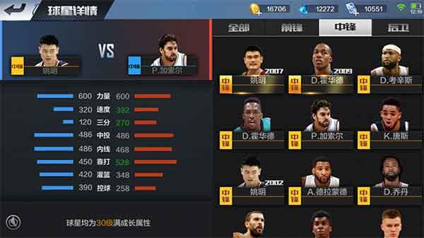 最强NBA手游姚明和加索尔哪个厉害?姚明VS加索尔对比分析[多图]