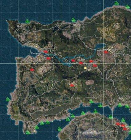 绝地求生全军出击车辆位置分页图 车辆载具位置说明[图]