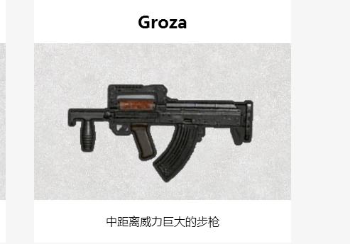 绝地求生刺激战场Groza好用吗?Groza枪械属性分析[图]