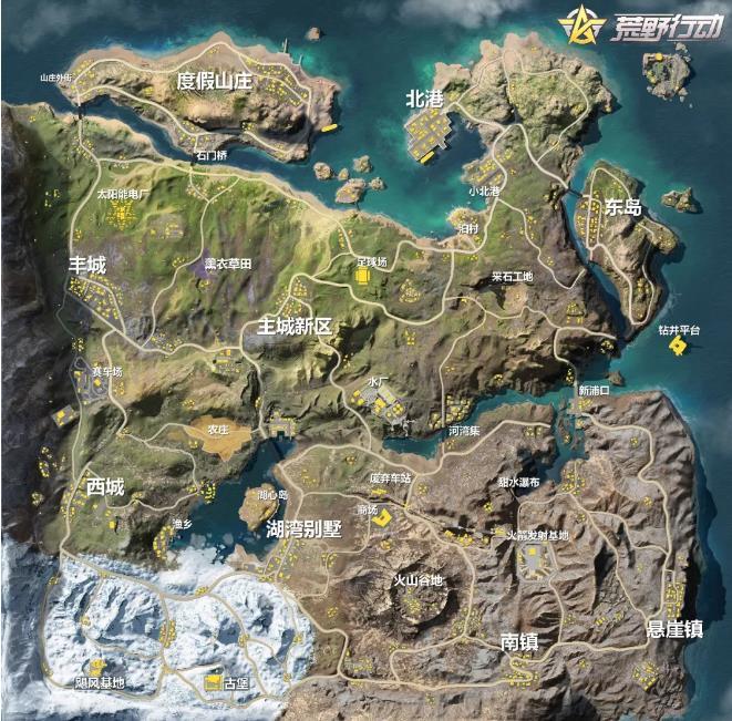 荒野行动新地图全貌亮相 新枪数值首曝光[多图]