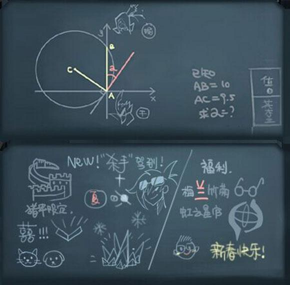 王者荣耀1月17日诸葛亮黑板上都有什么彩蛋?7个黑板彩蛋分析[多图]