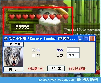 《功夫小熊猫》两项修改器