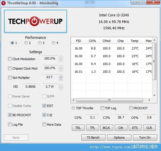ThrottleStop 笔记本CPU调频利器 官方中文版 v6.0 绿色版