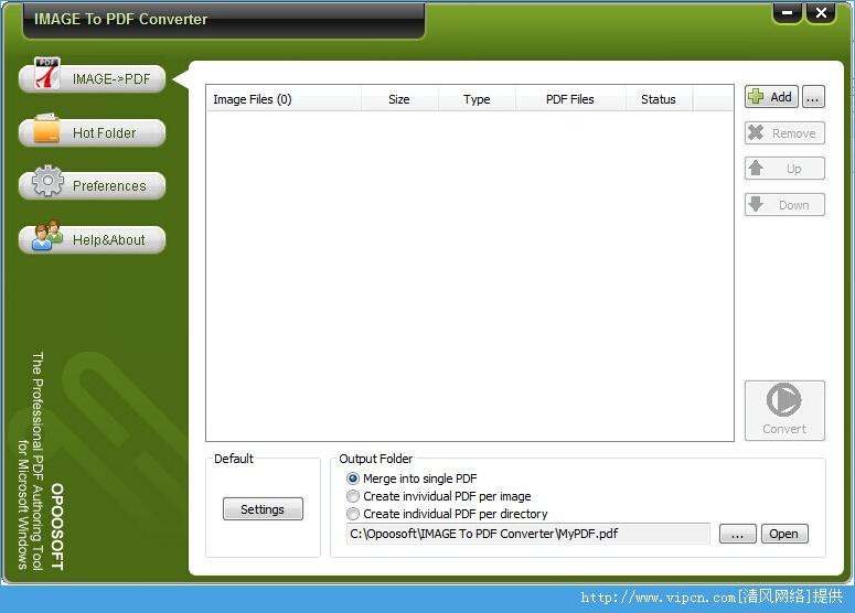 OpooSoft Image To PDF Converter Portable 破解版 v6.7 绿色版